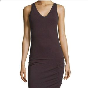 James Perse shirred tank midi dress 2
